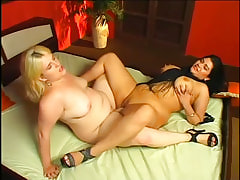 Lesbian Double Dildo xxx video