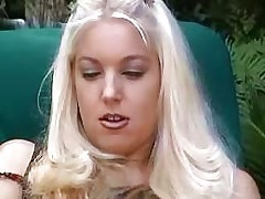 Lezzie satisfies herself.Sweet small titties!