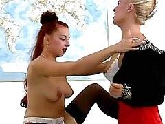 Lezzie drilled w finger.Lesbian milf sex!