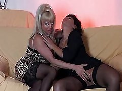 Lustful chick serves mature..