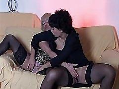 Lewd lesbians caress and lick pussy.Lesbian milf sex!