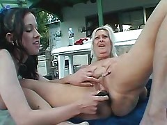 Sexual lesbians dildoing..