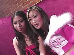 Asian chicks have fun in wild orgy.Young sexy lesbian!
