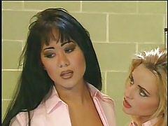 Two horny nursies licks in..