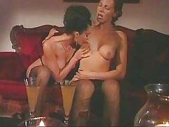 Mature lesbian licking sweet..