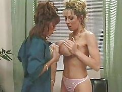 Busty mature lesbians lick..