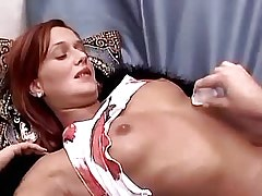 Two cute lesbians caress each other.Slip nipple.Sweet small titties.Young sexy lesbian!
