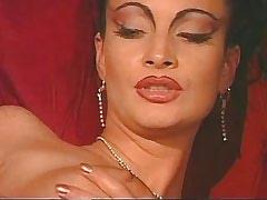 Fantastic lesbian gets dildo..
