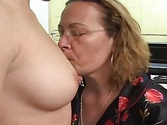 Lusty granny spoils innocent chick.Slip nipple.Lesbian Mature ang Girl!