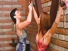 Lesbian babes play with handcuffs.Fetish Lesbian Stories.Lesbian milf sex!