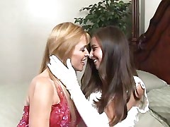 Cute young lesbians love each other.Girl kissing girl!