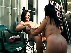 Lesbian gets dildo fuck from..
