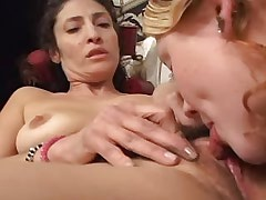 Lesbo chick and mature share..