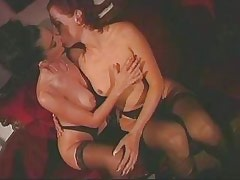Lesbian licking and dildoing..