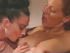 Mature lesbian in dildo sex..