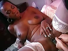 Ebony lesbian in stockings licks out police girl.Young sexy lesbian.Interracial Lesbian Sex.Lesbian Pussy!