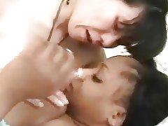 Hot asian Momo and ebony girl having lesbian fun!!!
