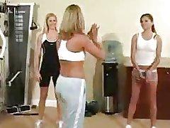 Gym Lesbians Foot fetish
