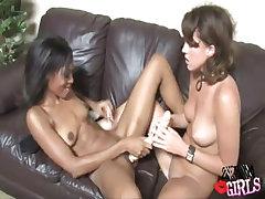 Interracial Lesbian xxx video