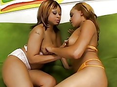 Beauty black girls massage..
