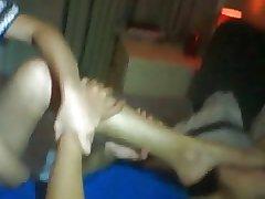 Asian Girl Loves the smell of Feet!