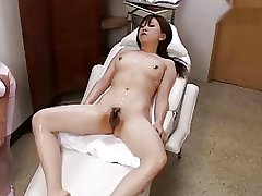 Massage on beauty bed 3