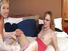 Two MILFs Take Turns Fucking..