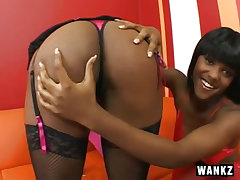 Sexy black lesbians in strap..