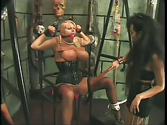 Busty blond punished for her..