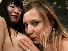 Yumi and katrina share first lesbo sex