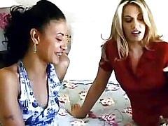 Lezzies enjoy kinky toys.Hot Latina Lesbian!
