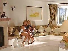 Blonde lesbian spoils..