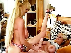 Lesbian licks and dildos wet pussy