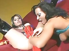 Lesbian in latex dildofucks girl.Asian sexy girl.Hot Latina Lesbian.Lesbian milf sex!
