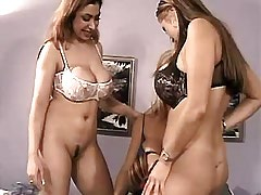 Busty lesbians have fun in groupsex.Lesbian mature sex.Threesome lesbian porn!