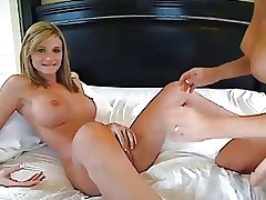 Blonde Lesbians Play On Cam